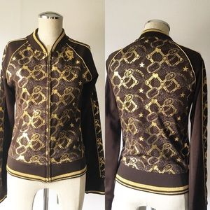 Eckored size small brown zippered light jacket